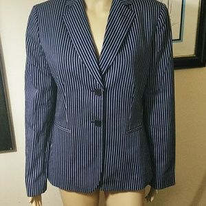 Tahari Navy pinstripe Blazer, 10